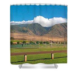 Maui Hawaii Mountains Near Kaanapali   Shower Curtain by Lars Lentz
