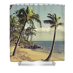 Shower Curtain featuring the photograph Maui Lu Beach Hawaii by Sharon Mau