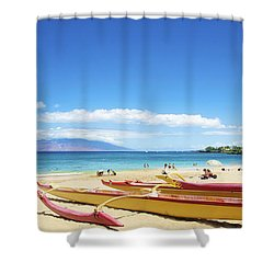 Maui Outriggers Shower Curtain by Kicka Witte