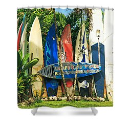 Maui Surfboard Fence - Peahi Hawaii Shower Curtain