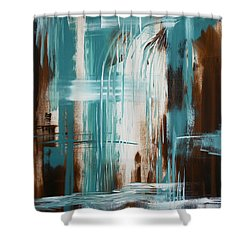 Waterfall In Paradise Shower Curtain