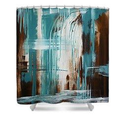 Waterfall In Paradise Shower Curtain by Dani Abbott