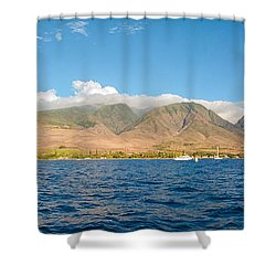 Maui's Southern Mountains   Shower Curtain by Lars Lentz