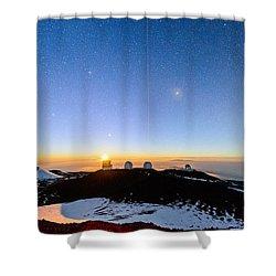 Mauna Kea Moonset 1 Shower Curtain