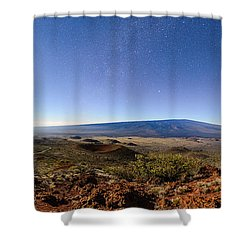 Mauna Loa Moonlight Panorama Shower Curtain