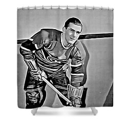 Maurice Richard Shower Curtain by Florian Rodarte