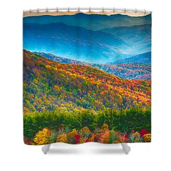 Max Patch Bald Fall Colors Shower Curtain