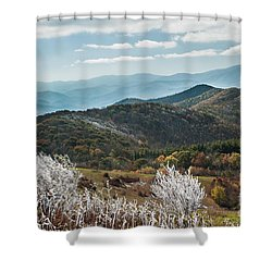Shower Curtain featuring the photograph Max Patch In Appalachian Mountains by Debbie Green