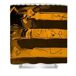 Max Stars And Stripes In Orange Shower Curtain by Rob Hans