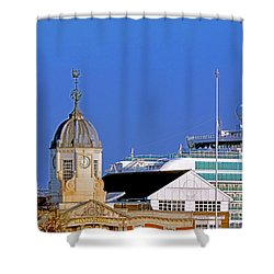 Maxims Casino Town Quay And Ventura Shower Curtain by Terri Waters