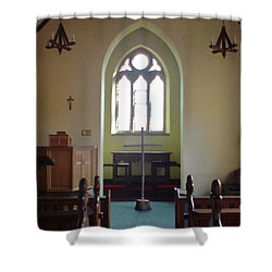 Shower Curtain featuring the photograph May Hill Church by John Williams