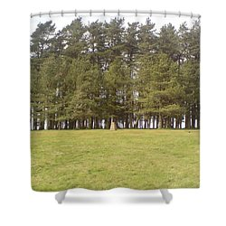 Shower Curtain featuring the photograph May Hill Tree Tops by John Williams