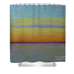 May Sunset Shower Curtain by Gail Kent