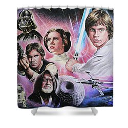 May The Force Be With You Shower Curtain