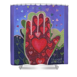 May We Choose Love Shower Curtain by Helena Tiainen