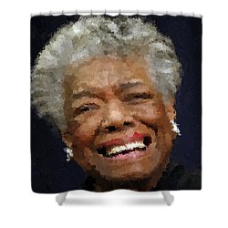 Maya Angelou Portrait Shower Curtain