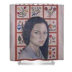 Maya Shower Curtain by Lynet McDonald