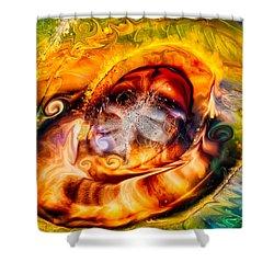 Mayan God Shower Curtain by Omaste Witkowski