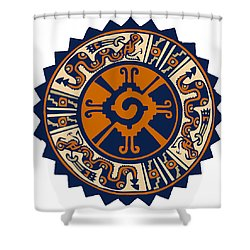 Mayan Hunab Ku Shower Curtain by Vagabond Folk Art - Virginia Vivier