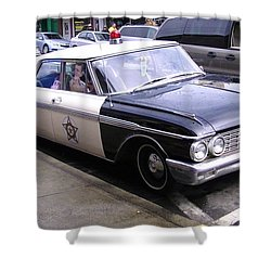 Mayberry Police Car Shower Curtain