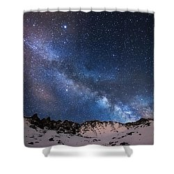 Mayflower Gulch Milky Way Shower Curtain by Darren  White