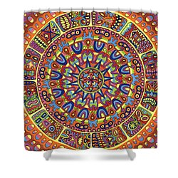 Mayhem Tikis Shower Curtain by Chris  Rolling