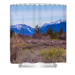 Shower Curtain featuring the photograph Mazama From Wolf Creek by Omaste Witkowski