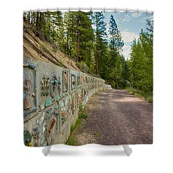 Mazama Suspension Bridge Trail Shower Curtain by Omaste Witkowski