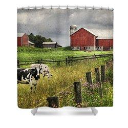Mcclure Farm Shower Curtain by Lori Deiter