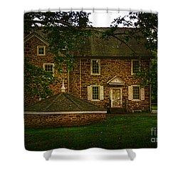 Shower Curtain featuring the photograph Mcconkey's Ferry Inn by Debra Fedchin