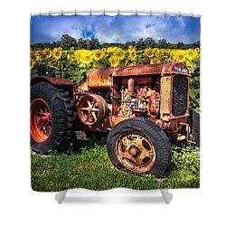 Mccormick Deering Shower Curtain by Debra and Dave Vanderlaan