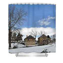 Mccormick Farm In Winter Shower Curtain by Todd Hostetter