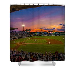 Mccoy Stadium Sunset Shower Curtain