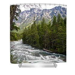 Mcdonald Creek In Glacier Np-mt Shower Curtain