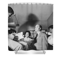 Mcgovern And Mrs. Coretta King Shower Curtain by Underwood Archives