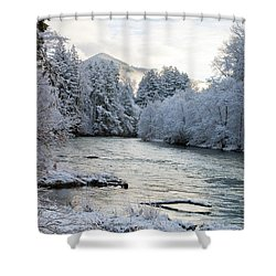 Shower Curtain featuring the photograph Mckenzie River by Belinda Greb