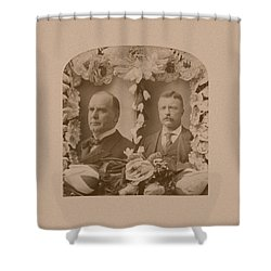 Mckinley And Roosevelt Shower Curtain by War Is Hell Store