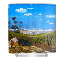 Mclarren Vale Vine Yards Shower Curtain
