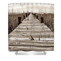 Mcteer Dock - Sepia Shower Curtain