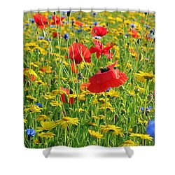 Meadow Flora Shower Curtain