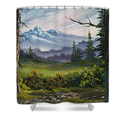 Meadow View Shower Curtain by C Steele