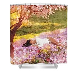 Meadows Of Heaven Shower Curtain by Mo T