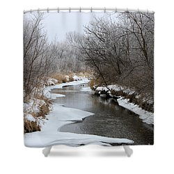 Meandering Geese Shower Curtain