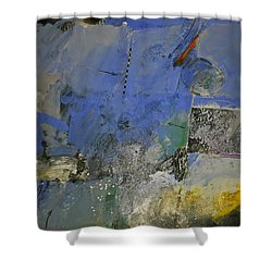 Shower Curtain featuring the painting Meatier Illogical Cold Front by Cliff Spohn