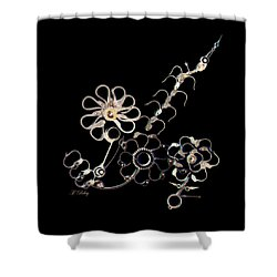 Mechanical Flowers Shower Curtain by Fran Riley