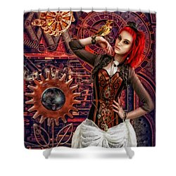 Mechanical Garden Shower Curtain by Mo T