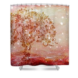 Mechanical - Tree Shower Curtain by Fran Riley