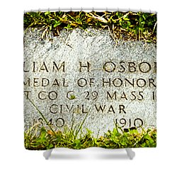 Medal Of Honor   Shower Curtain by Bob and Nadine Johnston