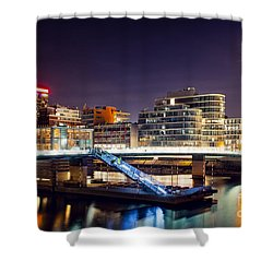 Media Harbor Dusseldorf Shower Curtain