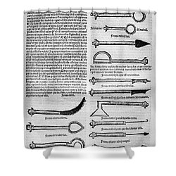 Medical Instruments, 1531 Shower Curtain by Granger